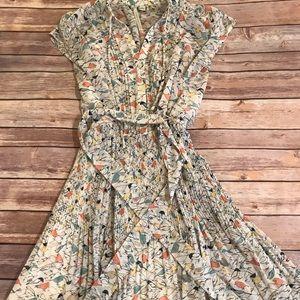 LC bird print casual dress 💚